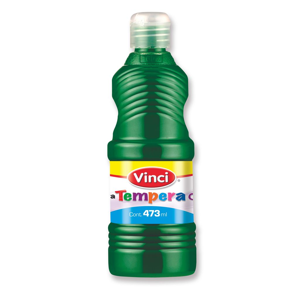 Pintura tempera473ml color verde pza officemax for Pintura de pato verde color