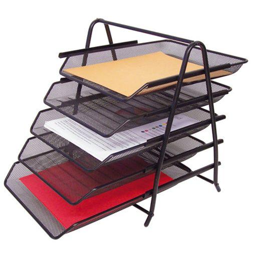 Charola 5 niveles negra malla carta u oficio 37x35 5x29 for Escritorio ergonomico caracteristicas