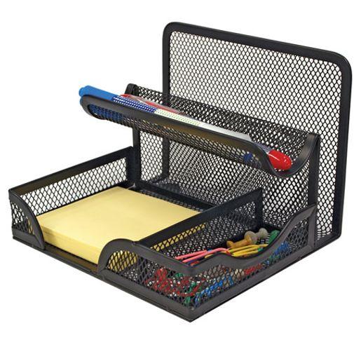 Organizador de escritorio mesh color negro officemax - Organizador de escritorio ...