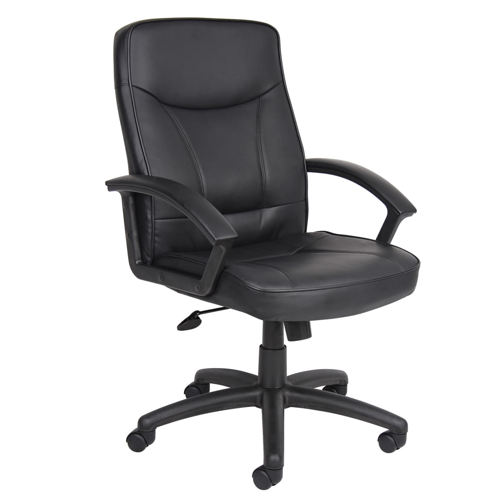 Silla ejecutiva caligari negro polipiel officemax for Sillas giratorias para oficina