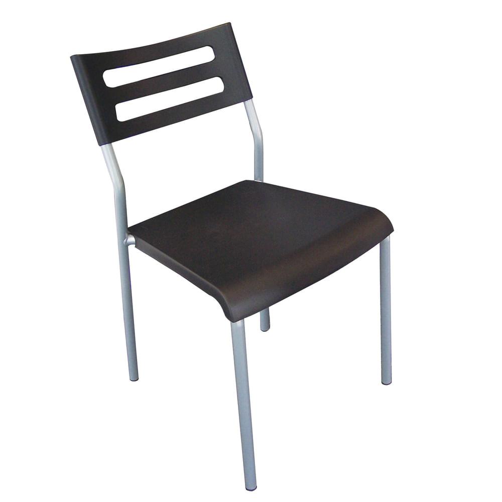 Sillas plastico baratas silla cromada tapizada tela for Sillas de plastico baratas