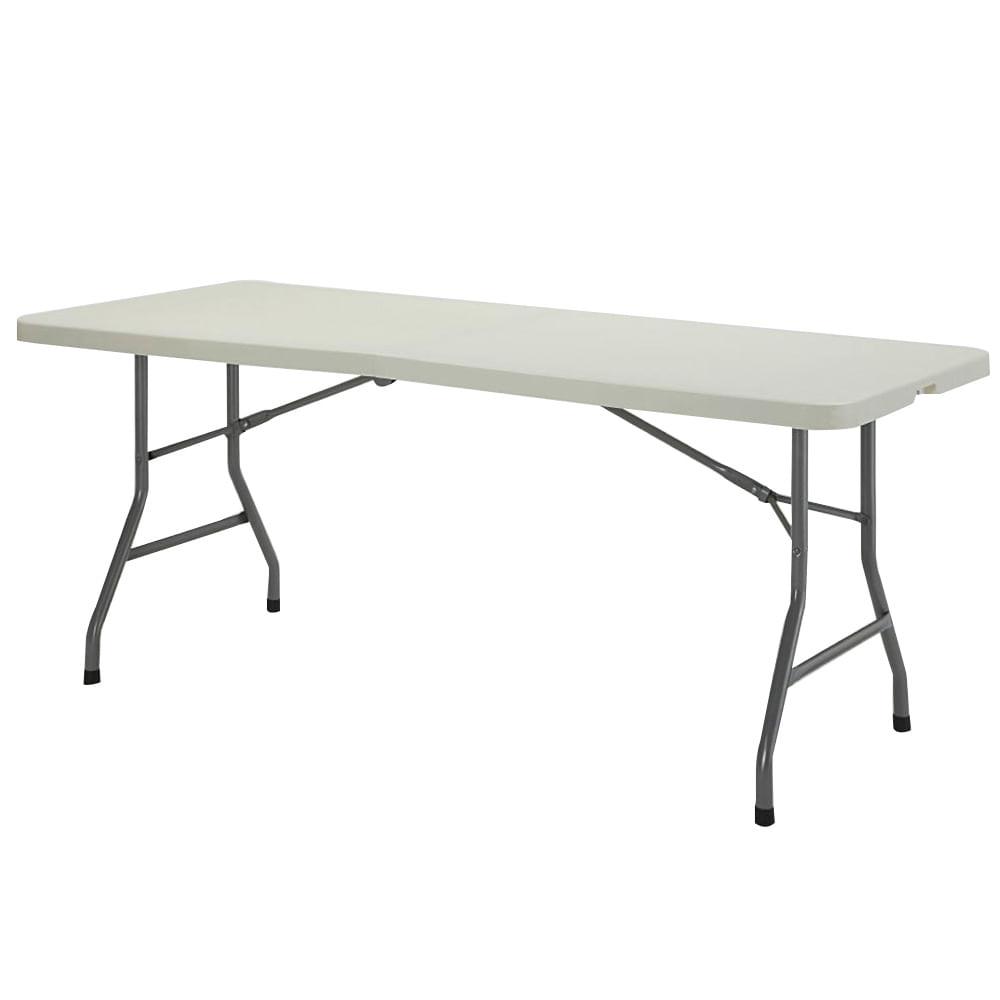 Mesa plegable de pl stico metros blanca officemax for Mesa plegable plastico
