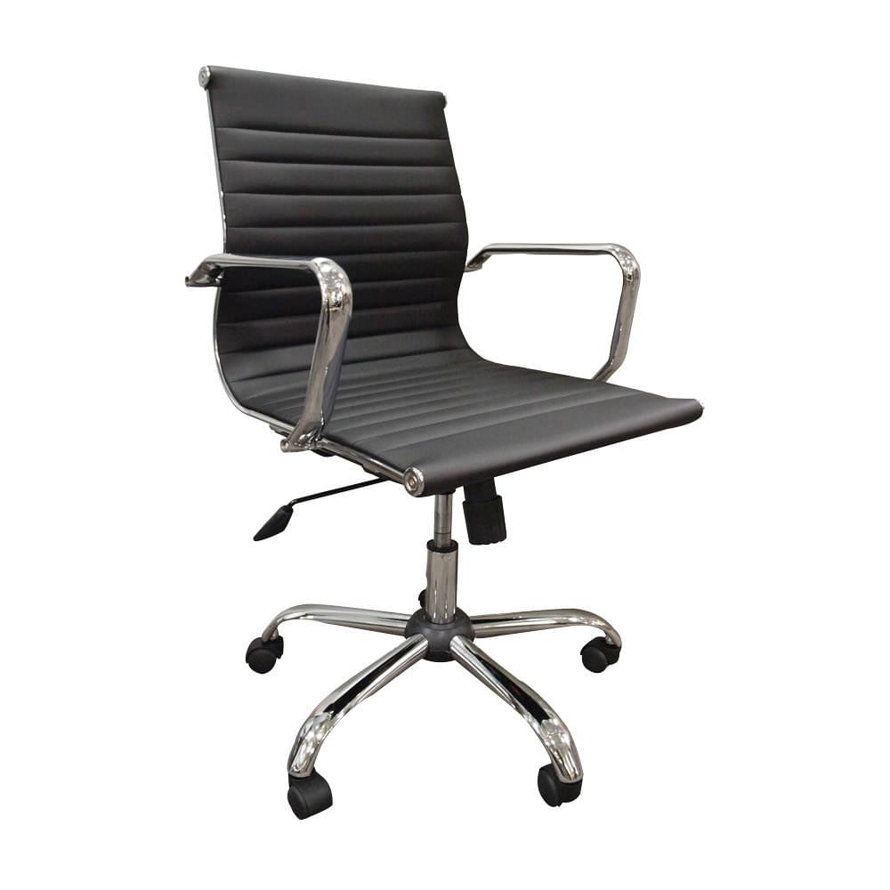 Silla officemax ejecutiva modello polipiel respaldo medio for Sillas para oficina office max