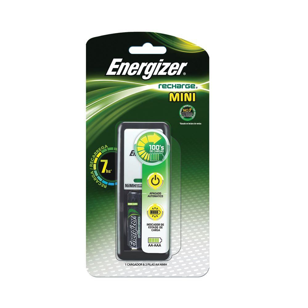 Cargador mini energizer aa aaa 2 pilas officemax - Cargador de pilas precio ...