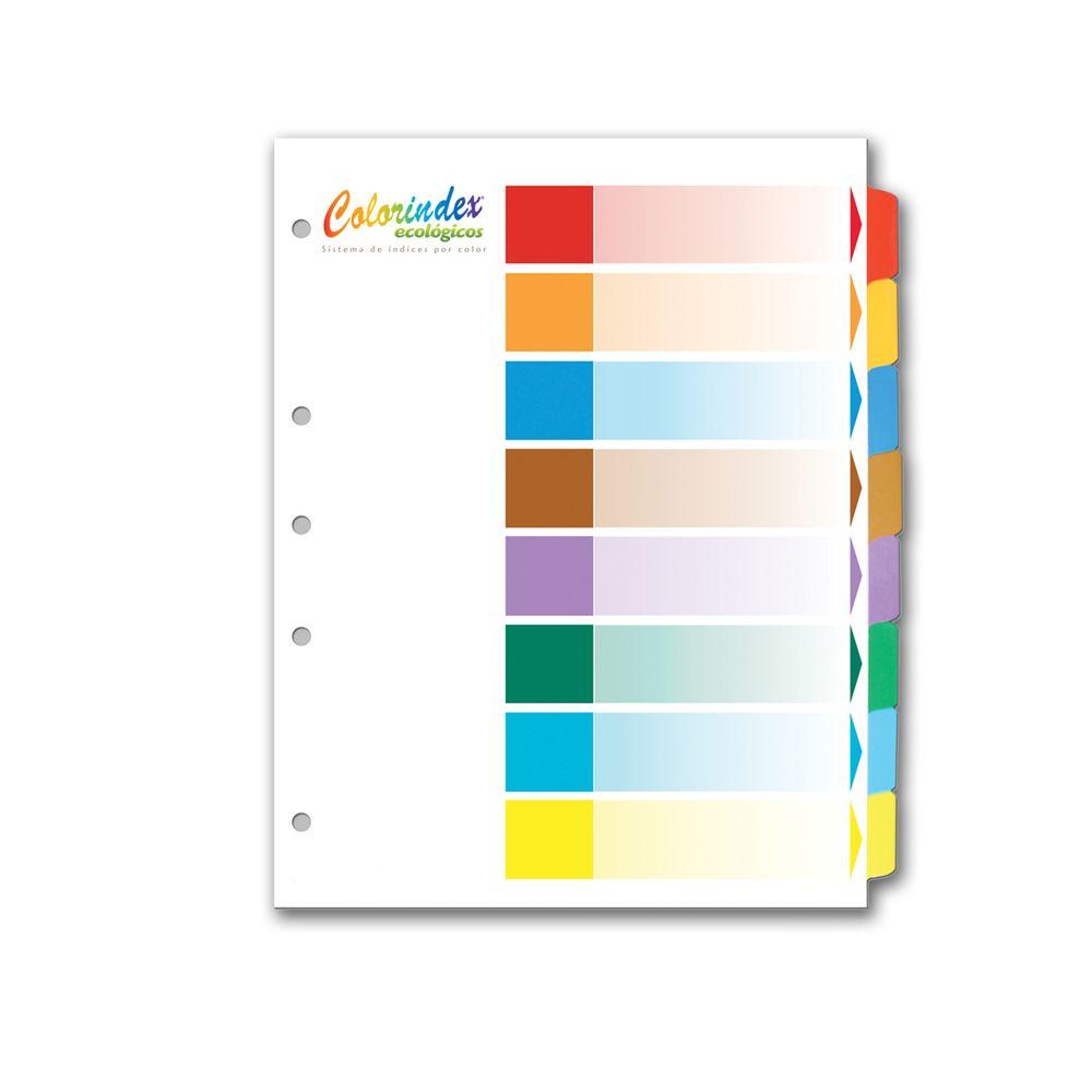 Separadores con 8 divisiones colorindex juego officemax for Separadores de oficina