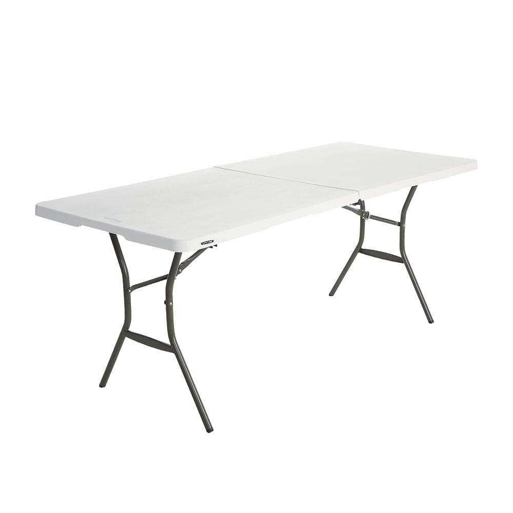 Mesa plegable 183 cm lifetime blanco officemax for Mesa plegable lifetime