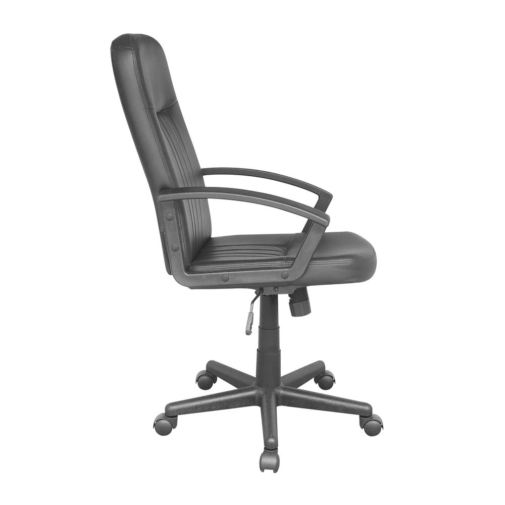 Silla Officemax Ejecutiva Lubecpolipiel Negro Officemax
