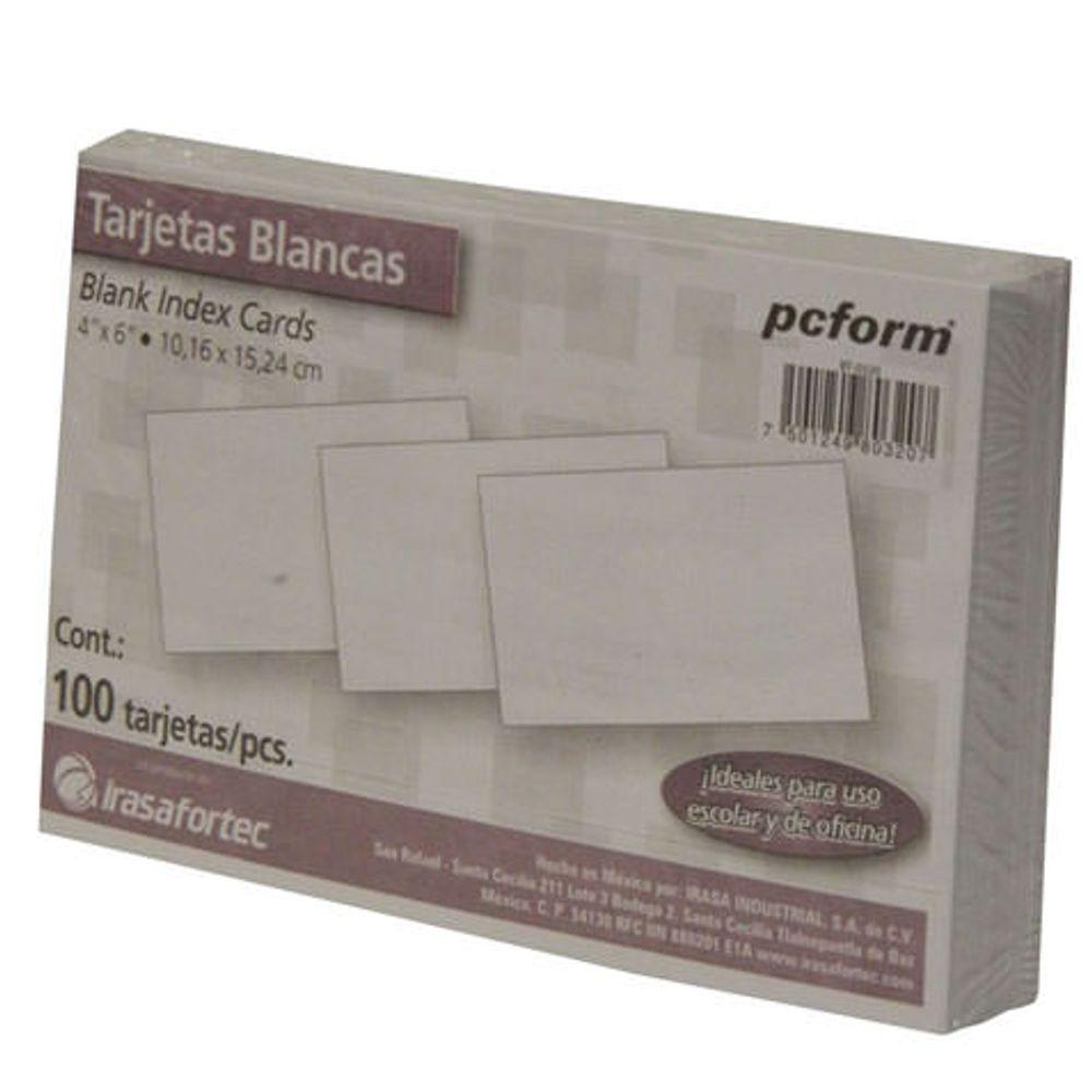 TARJETA INDICE BLANCA 4X6 100PZ - OfficeMax