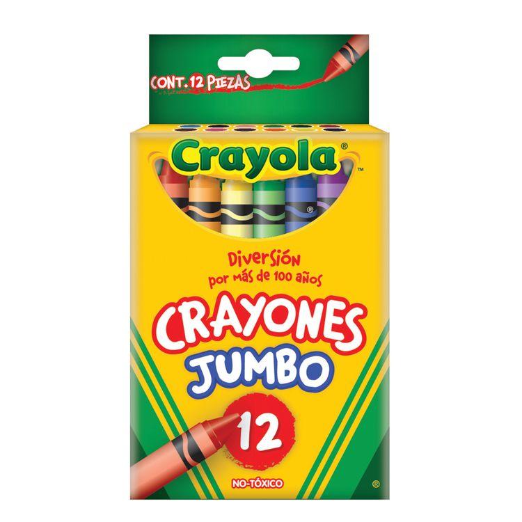 CRAYONES CRAYOLA JUMBO 12 PZAS - OfficeMax