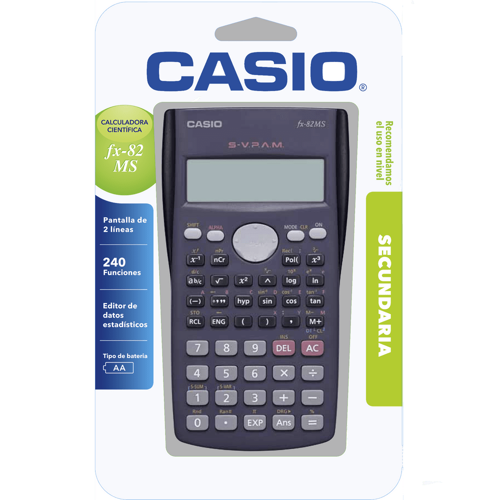Calculadora Casio Fx 82 Cient 237 Fica Officemax