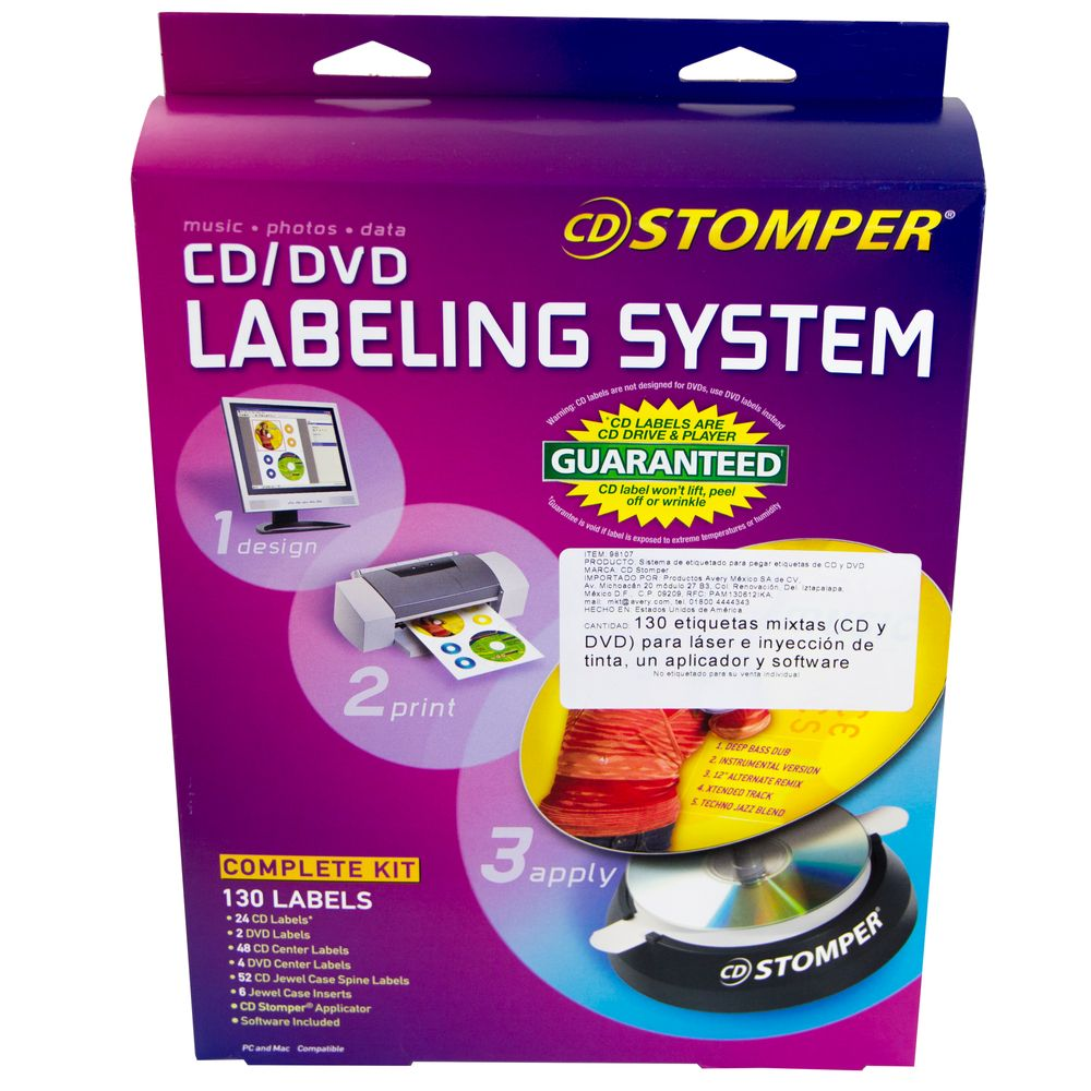 Etiquetas para CD y DVD Avery con Etiquetas Incluidas - OfficeMax