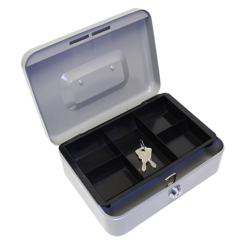 Caja p dinero 20 7x15 7x7 7cm seguro 2 llaves acero ng gris officemax - Guardar dinero en casa de forma segura ...