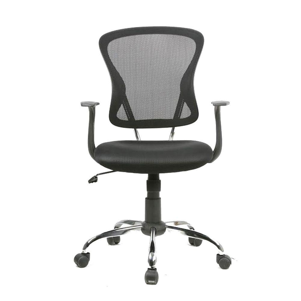 Silla Secretarial Casper Mesh Negro - OfficeMax