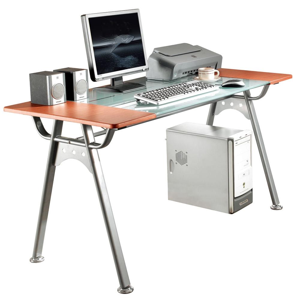 escritorio de trabajo heller melamina cristal templado