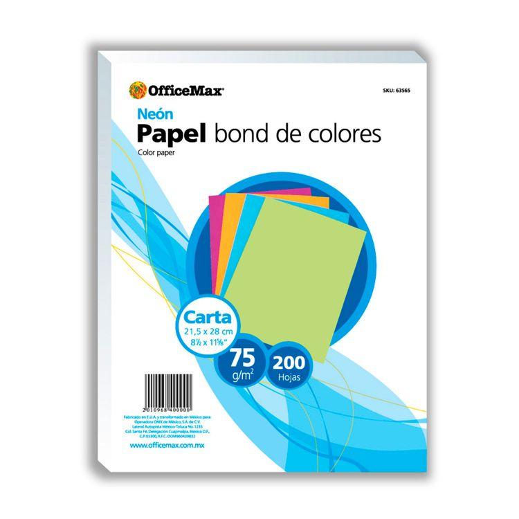 Papel Officemax Colores Neón Carta 200 Hojas 75 Gr - OfficeMax