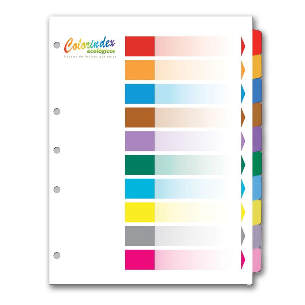 Separadores con 10 divisiones colorindexjuego officemax for Separadores de oficina