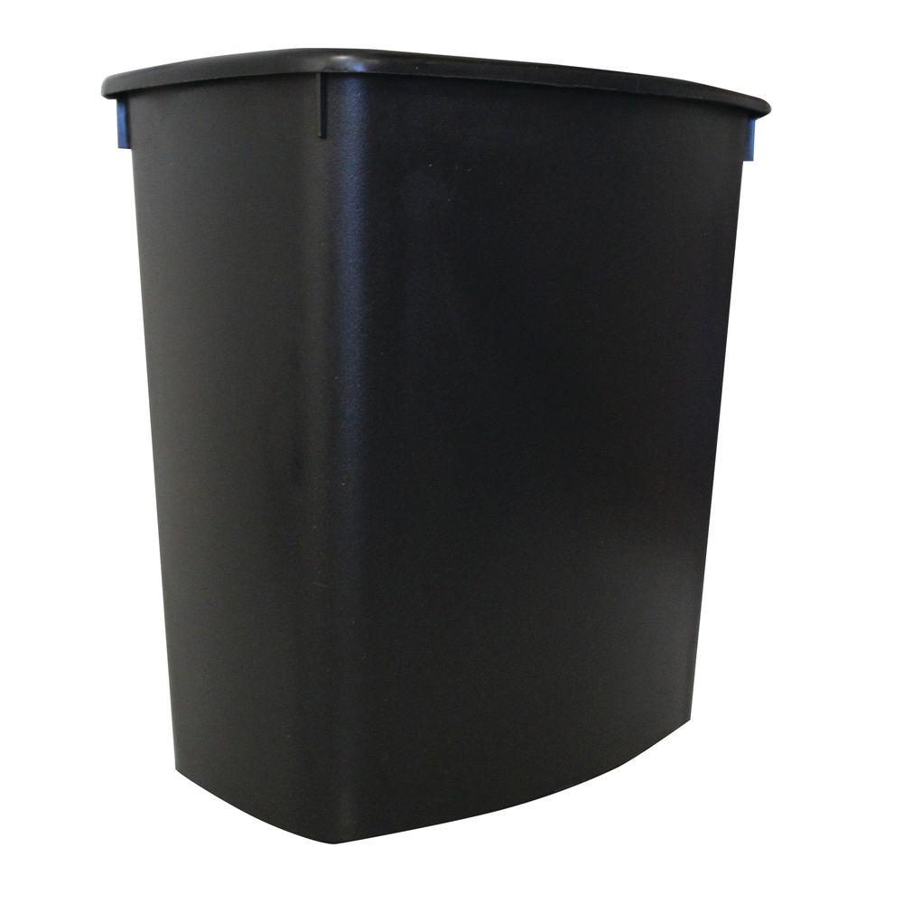 Bote De Basura Pl 225 Stico Negro 13 Litros Officemax