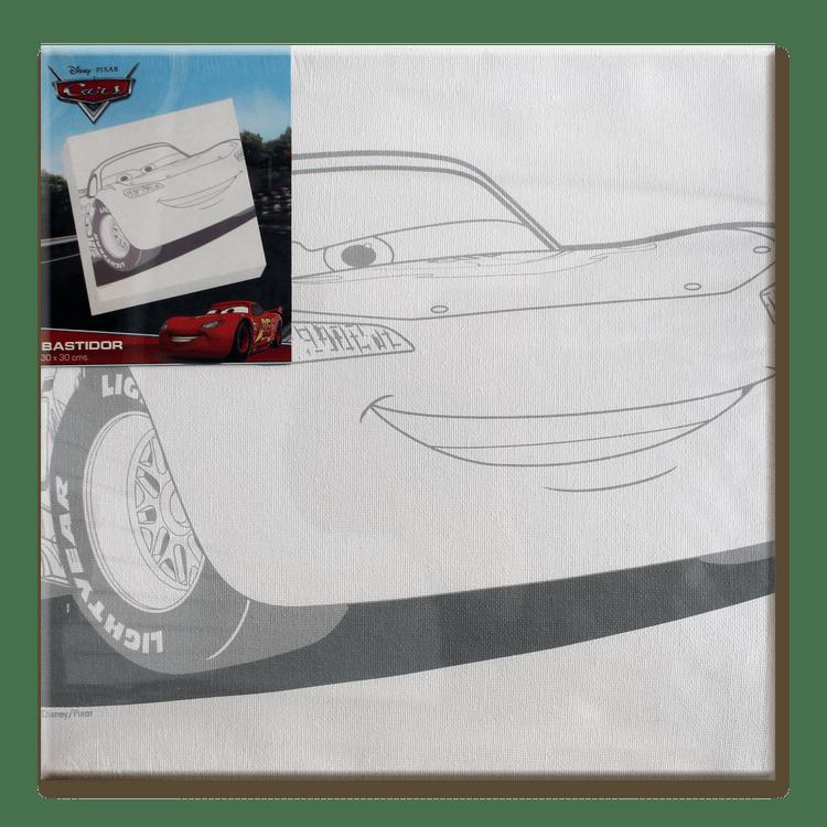 Bastidor Tela Disney Cars 30x30 cm - OfficeMax