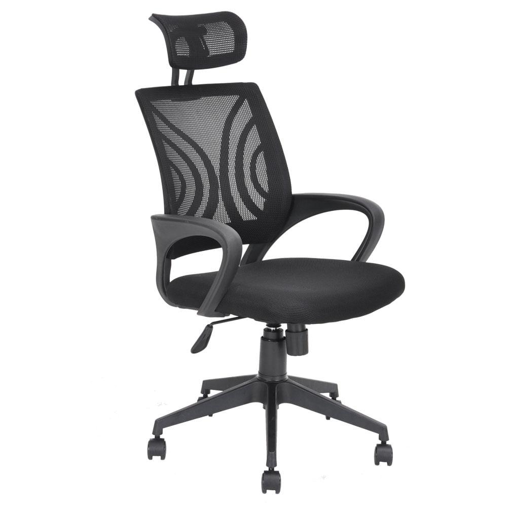 Silla ejecutiva kern mesh tela negro officemax for Sillas ejecutivas para oficina
