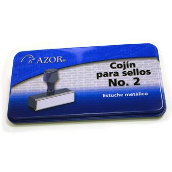 Cojin-para-Sellos-Azor-No.2-Metalico-Sin-Tinta