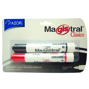 Marcadores-Azor-para-Pizarron-Punta-Cincel-Negro-y-Rojo-2-Piezas
