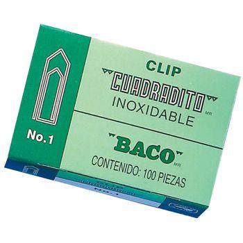 Clips-Cuadradito-Baco-N°-1-Caja-Con-100-Piezas