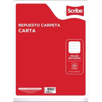Hojas-para-Carpeta-Scribe-Tamaño-Carta-Raya-100-Hojas