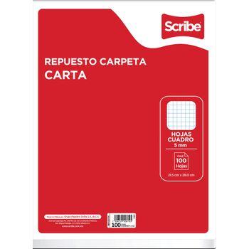 Hojas-para-Carpeta-Scribe-Tamaño-Carta-Cuadro-Chico-100-Hojas