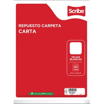 Hojas-para-Carpeta-Scribe-Tamaño-Carta-Blancas-100-Hojas