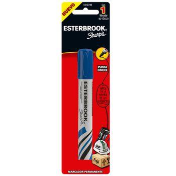 Marcador-Permanente-Esterbrook-Punta-Cincel-Azul-Pieza