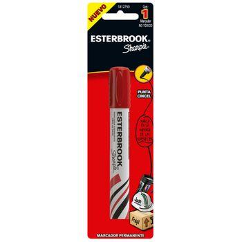 Marcador-Permanente-Esterbrook-Punta-Cincel-Rojo-Pieza