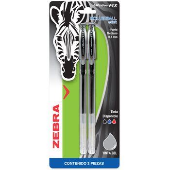 Rollerball-Zebra-J-Roller-Tinta-Gel-0.7mm-Negro-2-Piezas