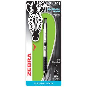 Boligrafo-Zebra-Retractil-Cuerpo-Metalico-Punto-Fino-Pza