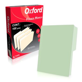 FOLDER-VERDE-CARTA-OXFORD-100PZ-179GRS