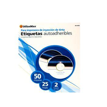 Etiqueta-Blanca-Ink-Laser-Para-Cd-Con-50-Etiquetas-Officemax