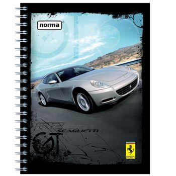 Cuaderno-Profesional-Rayado-Dura-Book-Ferrari-160-Hojas