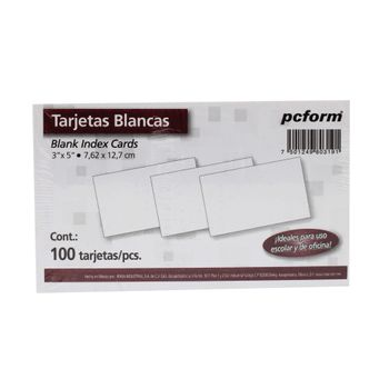 TARJETA-INDICE-BLANCA-3X5-100PZ