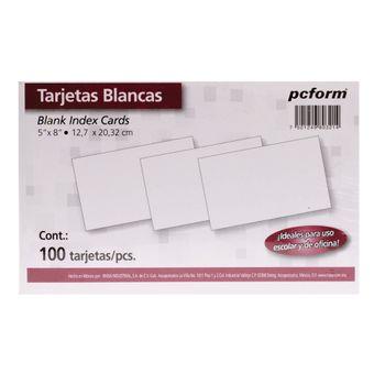 TARJETA-INDICE-BLANCA-5X8-100PZ