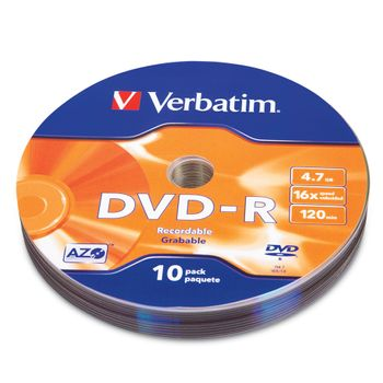 DVD-R-Verbatim-16X-4.7GB-120Min-16X-10Pk
