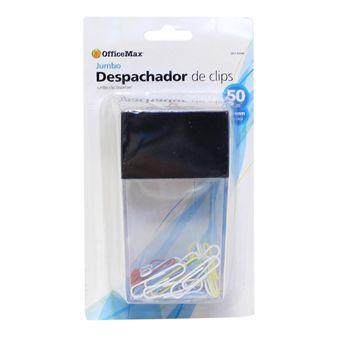 Despachador-De-Clips-Jumbo-Con-50-Clips-De-Colores-33MM-OMX