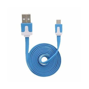 Cable-Micro-USB-3.2Ft-Flat-Azul