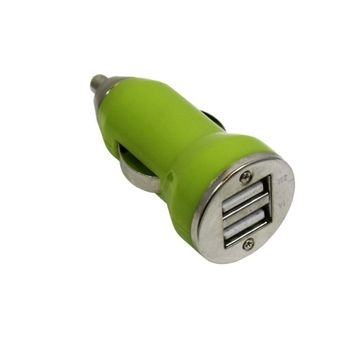 Cargador-Auto-USB-Dual-3.1amp-Verde