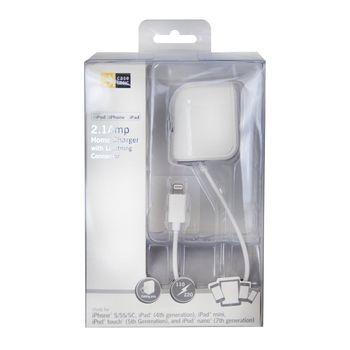 Adaptador-Pared-con-Cable-Case-Logic-2.1.Amp-Lightning-blanc