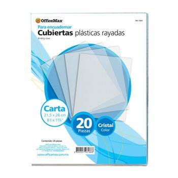 Cubierta-Plastica-Officemax-Rayada-Cristal-20p