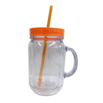 Vaso-con-Popote-20oz-color-Naranja