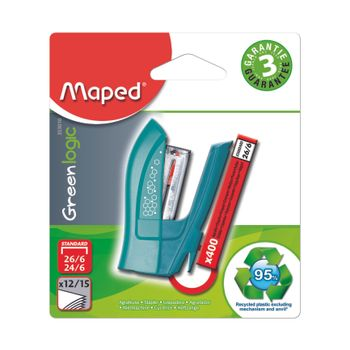 Mini-Engrapadora-Maped-Greenlogic-Colores