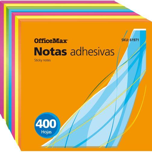 Notas-Adhesivas-OfficeMax-Neon-Cubo-7.6X7.6CM-400H