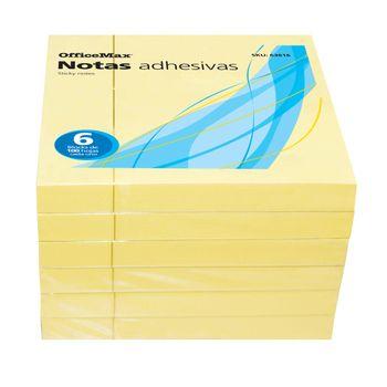 Notas-Adhesivas-OfficeMax-Amarillas-600HJ-En-6-Blocks