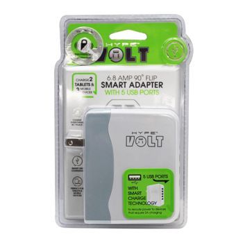 Adaptador-de-pared-Hype-5-puertos-6.8-AMP-Blanco