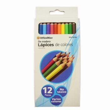 Lapices-De-Madera-Varios-Colores-OfficeMax-12-Piezas